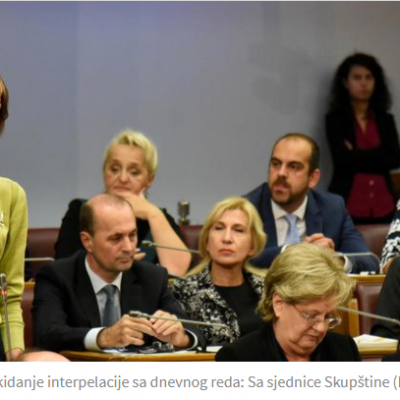 Parlament je unižen: Vlada i Pažin nijesu smjeli da se pojave
