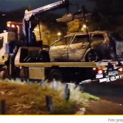 Ovim automobilom je napadač pobjegao nakon ranjavanja Dake Davidovića