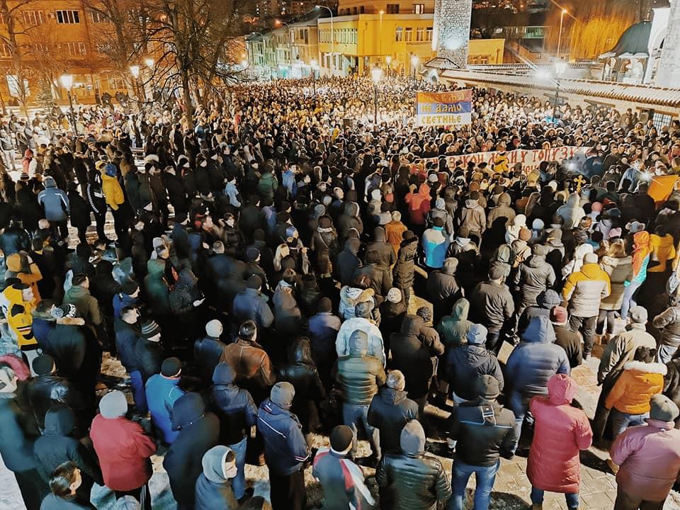 I večerašnja, 18. litija protekla mirno uz veliko prisustvo građana Pljevalja
