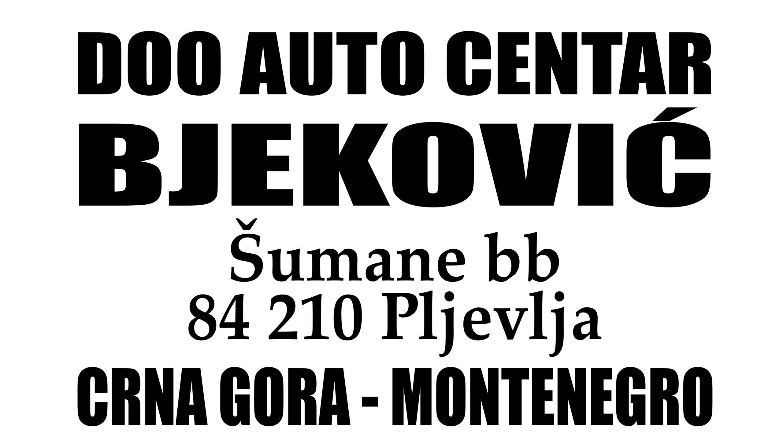 Auto centar BJEKOVIĆ