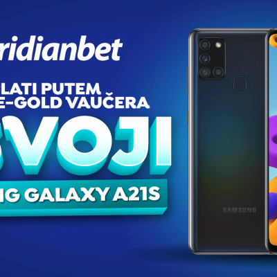 Osvoji Samsung Galaxy A21s u sportskoj kladionici Meridian!