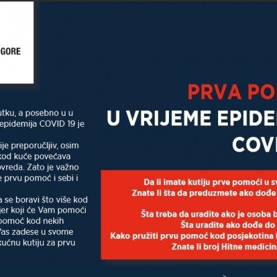 CKCG: Znate li kako da pružite prvu pomoć u vrijeme epidemije Covid 19?