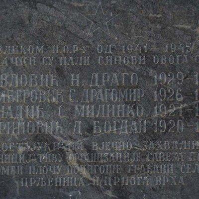 SPOMEN-PLOČA PALIM BORCIMA U CRLJENICAMA