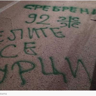 Prijava protiv trojice Pljevljaka zbog grafita sa porukama mržnje