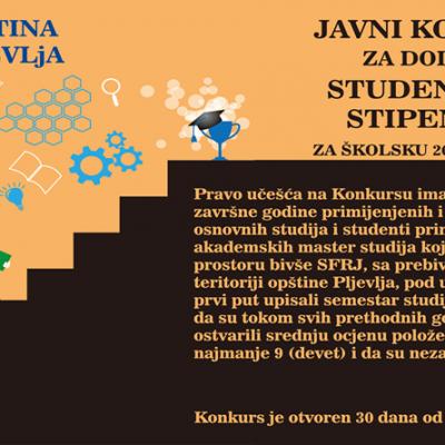 Raspisan Konkurs za dodjelu studentskih stipendija za školsku 2020/21