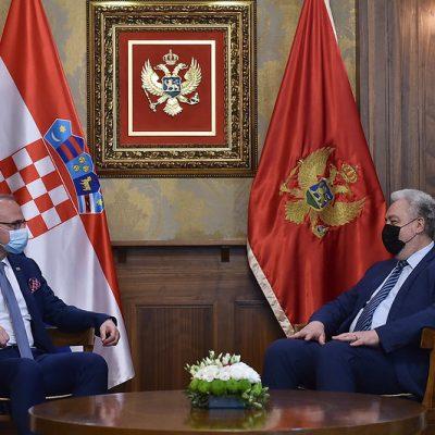 Premijer Krivokapić razgovarao sa ministrom vanjskih poslova Hrvatske