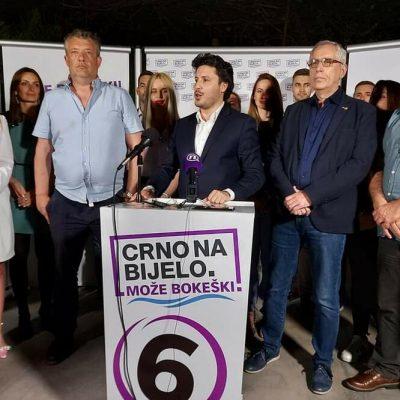Abazović: Raste podrška građanskoj opciji, duplo bolji rezultati nego na prošlim lokalnim izborima