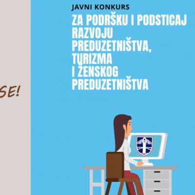 Raspisan konkurs za dodjelu sredstava za podršku i podsticaj razvoju preduzetništva, turizma i ženskog preduzetništva