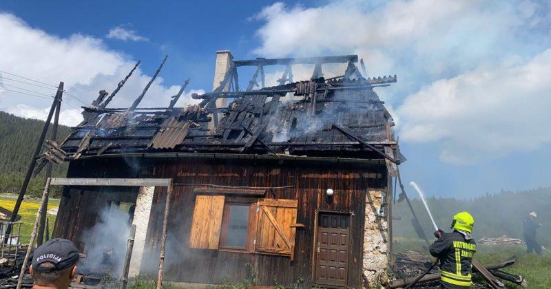 Žabljak: Izgorjela kuća Julke Popadić u selu Dobri nugo