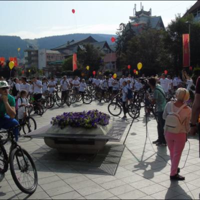 "Sa trga ""13 jul"" startovala VI Biciklijada ""Pljevlja 2021"" na putnom pravcu R18 Pljevlja-Brvenica-Pljevlja"