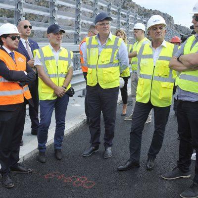 Abazović i Bojanić obišli gradilište auto-puta: Radovi se bliže kraju, transparentost dio obećanja