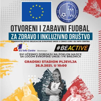 """Održana manifestacija """"Otvoreni i zabavni fudbal za zdravo i inkluzivno društvo"""""""