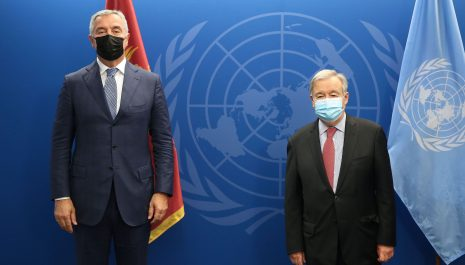 Đukanović razgovarao sa generalnim sekretarom UN Antoniom Guterešom