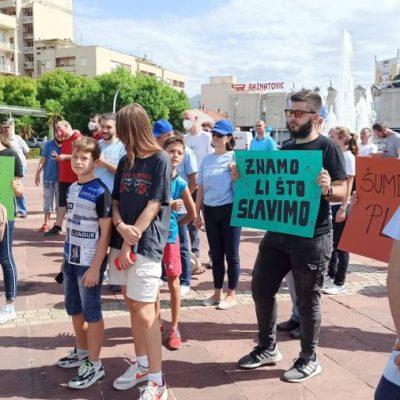 Održan protest protiv devastacije rijeka i šuma