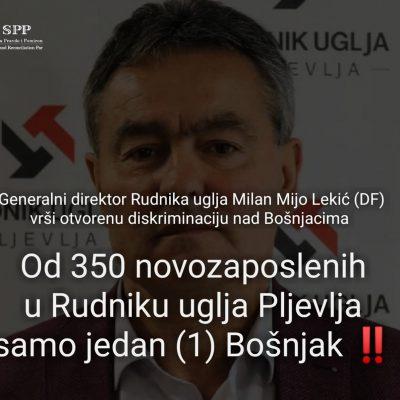 Od 350 novozaposlenih u Rudniku uglja samo jedan (1) Bošnjak