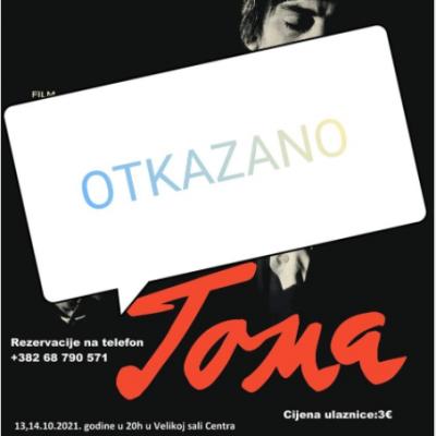 """Projekcija filma """"TOMA"""" otkazana zbog tehnickih problema"""