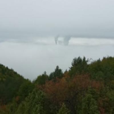 Čuvena Pljevaljska magla sakrila grad – Dominiraju dimnjaci termoelektrane
