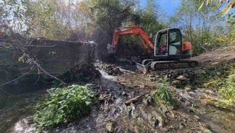 Prvo uklanjanje pregrada iz rijeka u regonu: Vezišnica ponovo slobodna