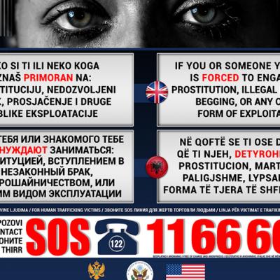 MUP povodom 18. oktobra, Evropskog dana borbe protiv trgovine ljudima